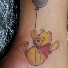 an #adorable #winniethepooh #tattoo done