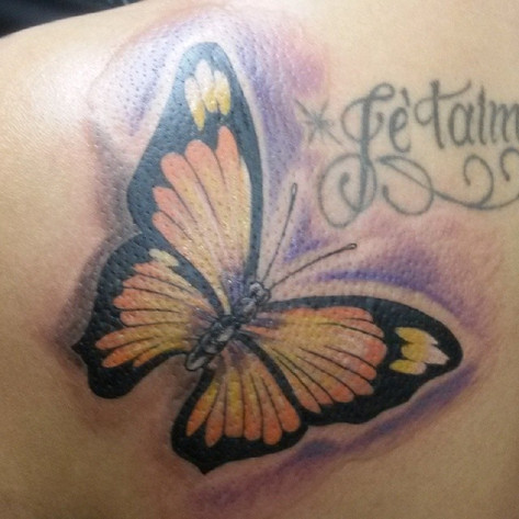#amazing #butterflytattoo done at #rockc