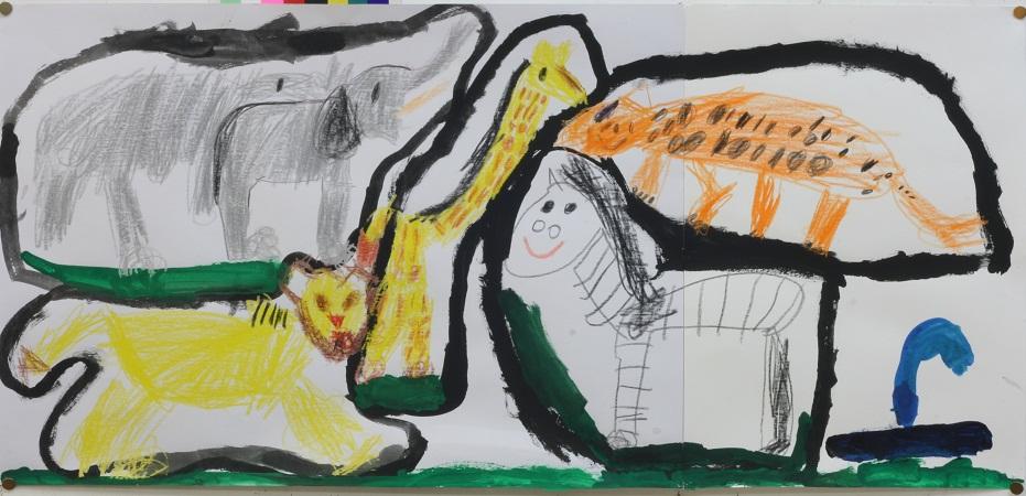 動物園の絵