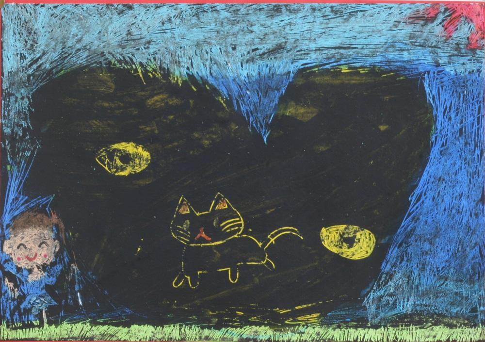 絵画・クレヨンスクラッチ