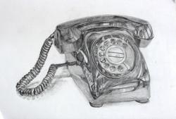 鉛筆デッサン・電話