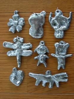 錫の鋳物のアクセサリー作り