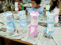 紙コップ人形