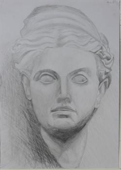 デッサン・石膏像頭部