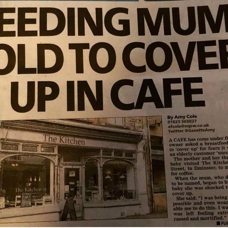 Shamed for breastfeeding in public