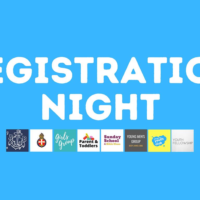All Organisations Registration Night