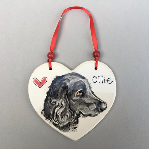 Pet Portrait Heart Plaque