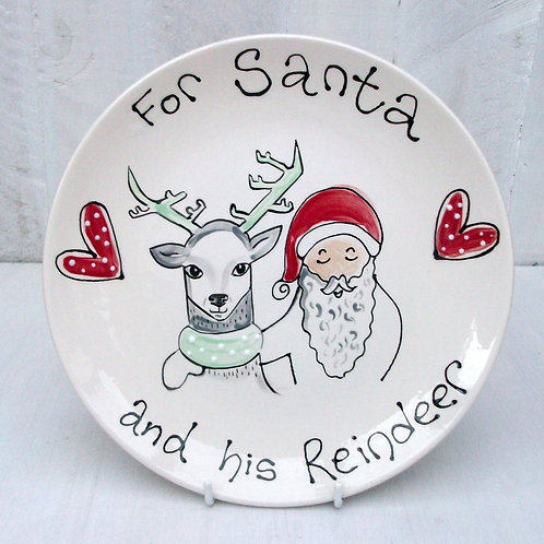 A plate for Santa