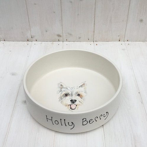 Dog Bowl with Portrait (Water Bowl)