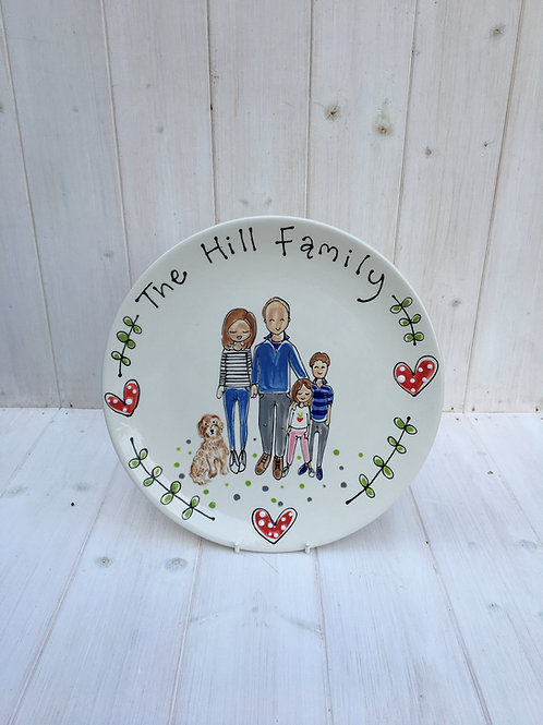 Family Portrait Plate