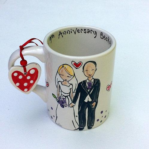 Portrait Anniversary or Wedding Mug