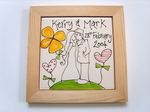 Personalised Wedding or Anniversary Plaque