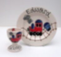 Easter Egg Cup and Plate Set