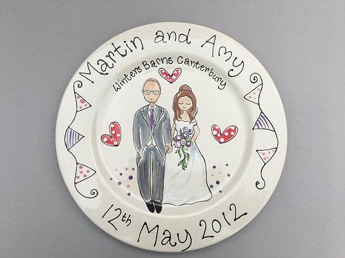 Wedding or Anniversary Plate