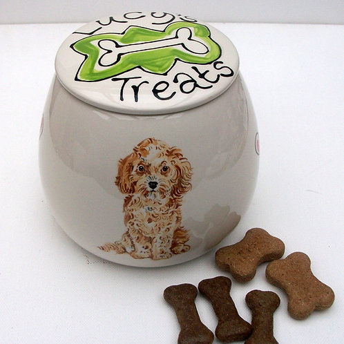 Dog Portrait Treat Jar