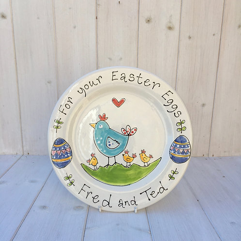 Personalised Easter Egg Plate