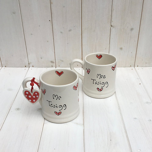 Personalised Love Mugs