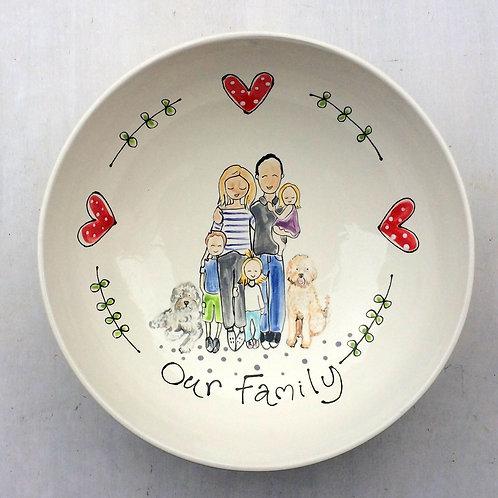 Family Portrait Bowl