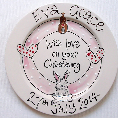 Personalised Christening Plates