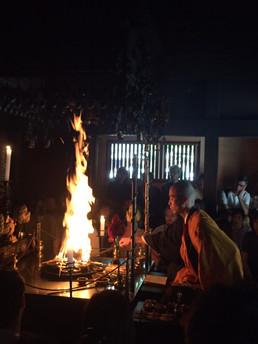 【8月27日】護摩炊き