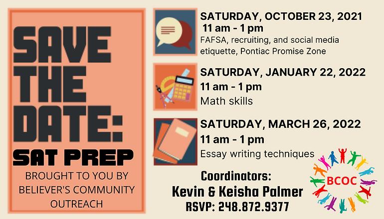 OCTOBER 23rd, 2021 11 am - 1 pm FAFSA, recruiting, and social media etiquette, Pontiac Pro
