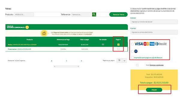 Pagar seguros bolivar por internet paso
