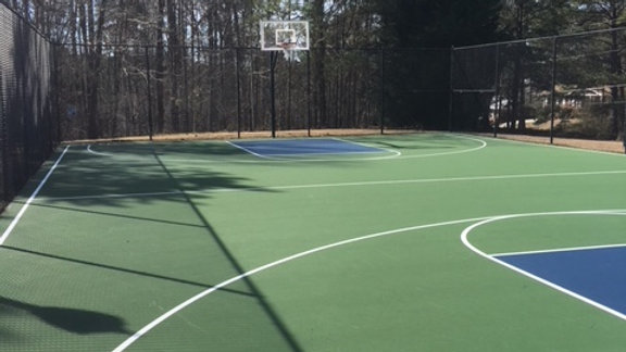 Basketball Courts - Limit of 10 people on the court. Hours - 8 am - 8 pm