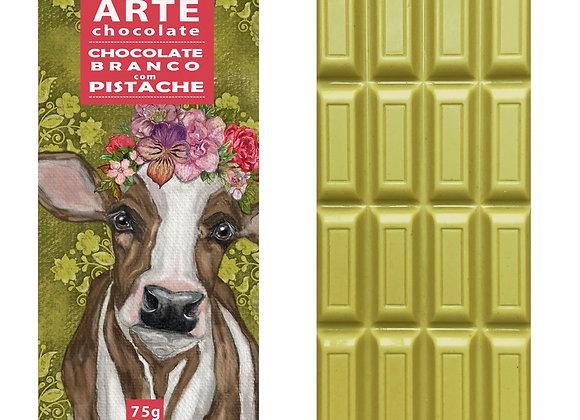 Chocolate branco com pistache