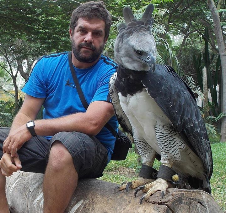 Antonio and the rescued Harpy