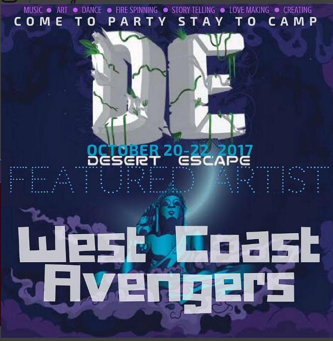DESERT ESCAPE in BORON this weekend! Discount Code: wca