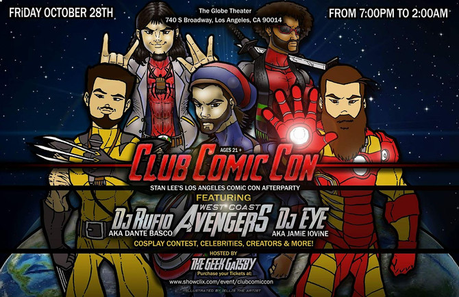 WCA at Los Angeles Comic Con Afterparty for Club Comic Con launch!