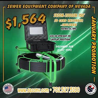 SECON-2000SM 150' w/ sd card recorder
