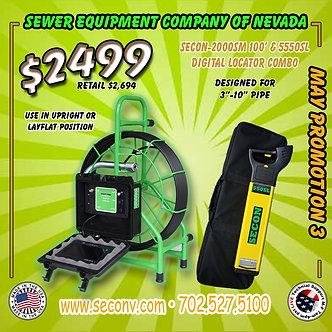 SECON-2000SM 100' w/ SECON-550SL Digital Locator