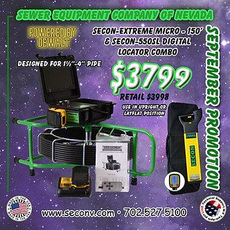 SECON-Extreme Micro 150' CORDLESS & SECON-550SL Digital Locator