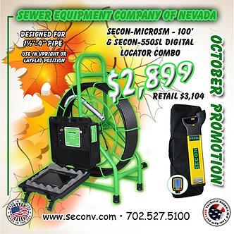 SECON-MICROSM 100' & SECON-550SL COMBO