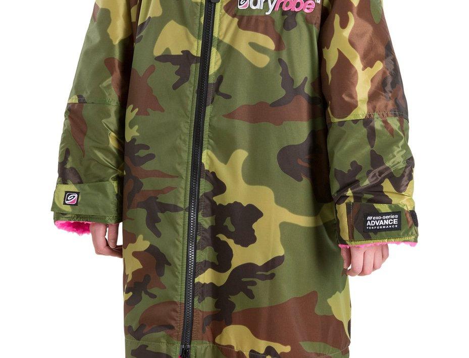 DryRobe Advance Kids LS Camo/Pink