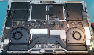 Liquid damaged MacBook Pro