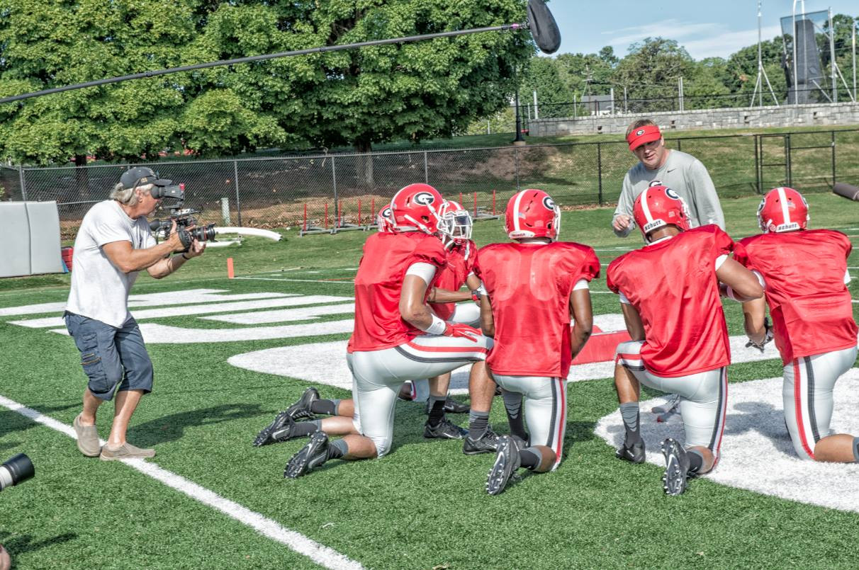 Working out with the Georgia Bulldogs