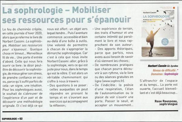 Article sophrologie magazine.JPG
