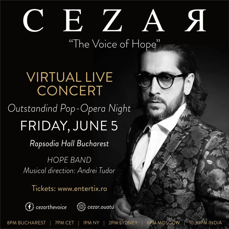 """CEZAR - """"The Voice of Hope"""" - Global Virtual Live Concert"""