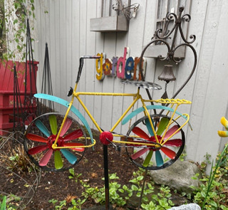 Bright Bicycle Garden Stake
