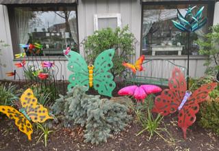 Outdoor Metal Butterfly Art
