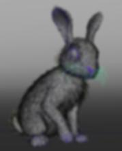 Rabbit, Yeti, Maya, Groom, Fur, Hair, Arnold