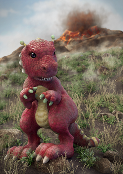 Ponpon, the Dinossaur