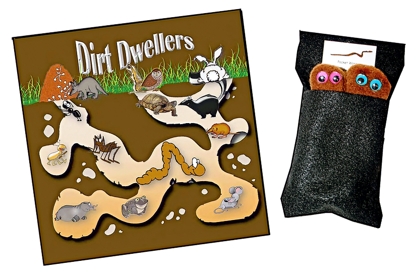 Dirt Dwellers Book with Pocket Worms