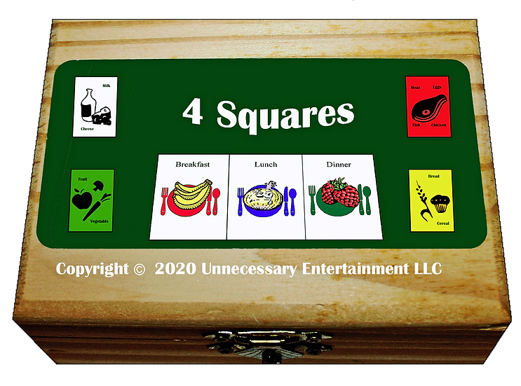 4 Squares Card Game