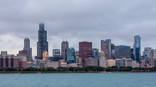 Chicago+Skyline+and+Lake+Michigan+Clouds