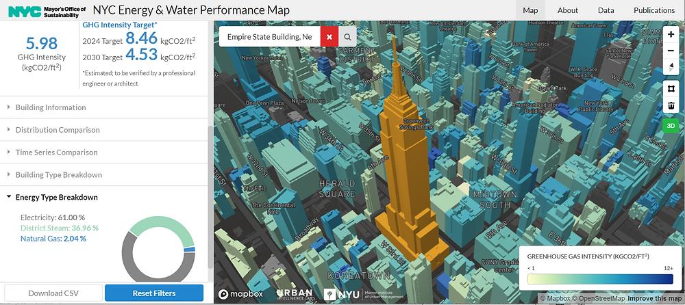 New York City Energy & Water Performance Map
