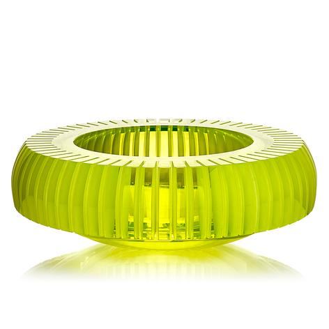 CH 11 2020   uranové sklo, foukané, ručně broušené, řezané, lepené