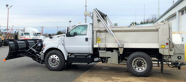 Ford F-750 10 foot Bibeau Stainless Stee Dump Truck with Plow and Spreader